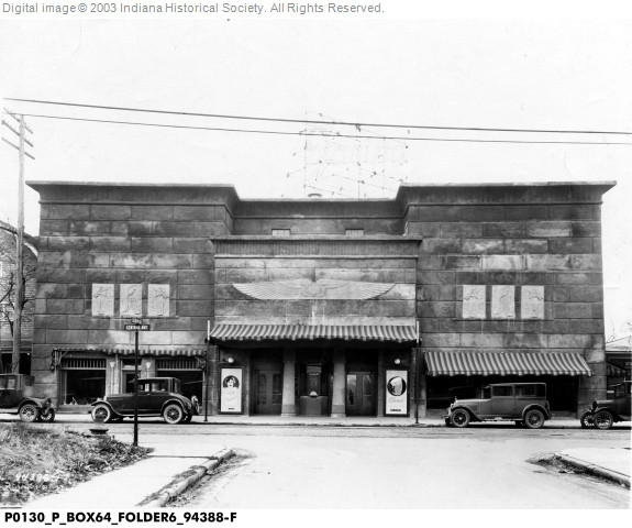 Indianapolis Then and Now: Zaring's Egyptian Theatre, 2741 Central Avenue