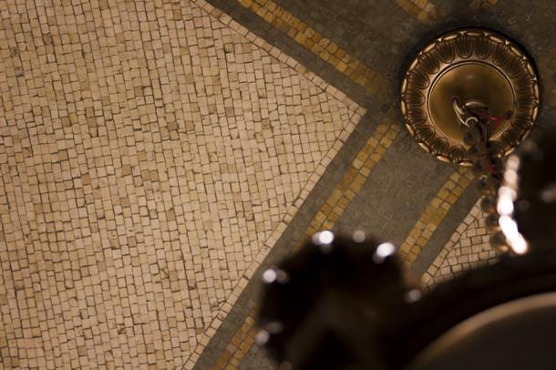 Tile in entry ceiling, 2013, (c) photo by Kurt Lee Nettleton