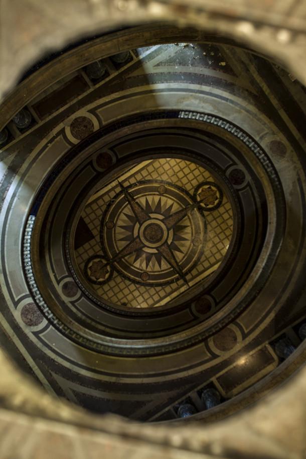 Floor through rotunda hole, 2013, (c) photo by Kurt Lee Nettleton