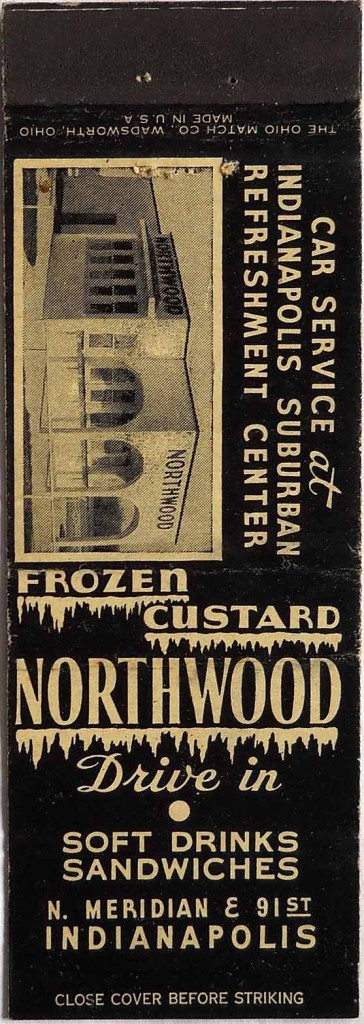 Circa 1940 matchbook of the Northwood Drive-In owned by Evan Finch
