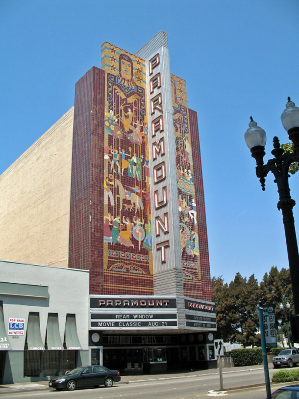 Orignal home of Indy's Wurlitzer Organ, the Paramount Theater - Oakland, CA - photo from Wikipedia