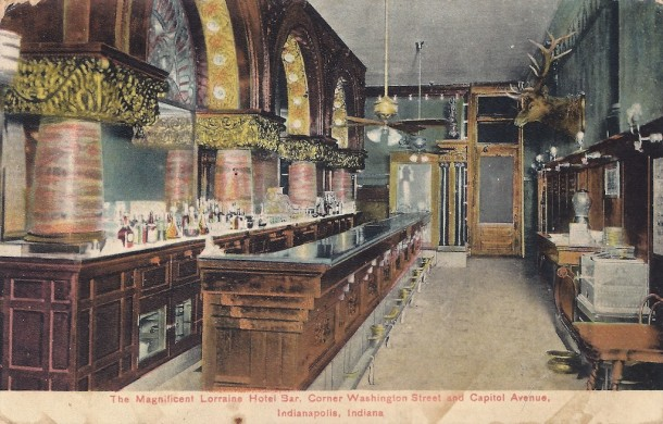 Lorraine Hotel Bar, postcard, courtesy Evan Finch
