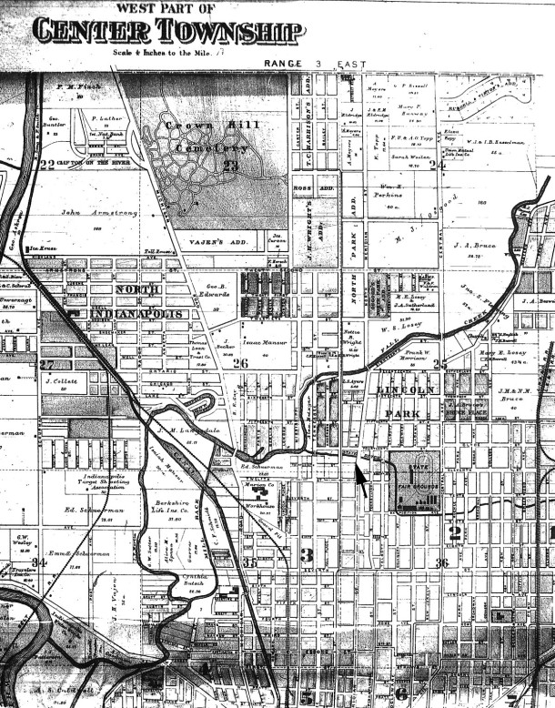 1889 Map of Center Township