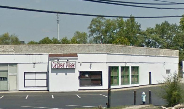 The building in which the original Lotus Garden restaurant was located is still standing, although it is currently unoccupied (image courtesy of Google maps)