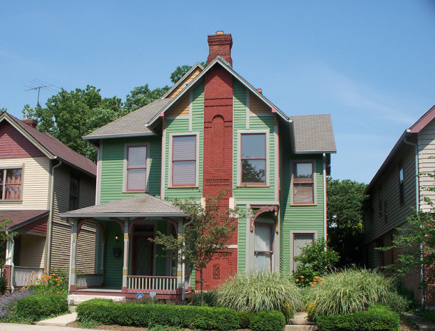 The residence at 1713 N. Delaware Street, as it appear today (photo by Sharon Butsch Freeland)