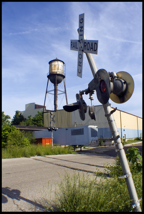 Rear view of the National Motor Vehicle Co. building at 22nd Street and the Monon - Photo by Ryan Hamlett