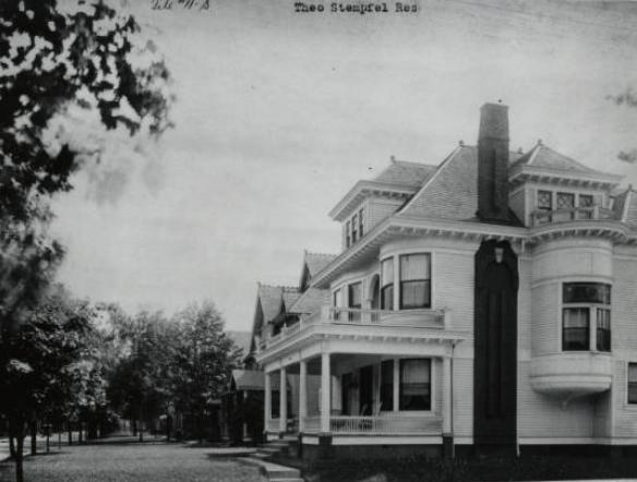 The Gladden-Stempfel home, located at 1564 N. Park Ave., was constructed in 1898. This undated photo shows the home in pristine condition. (Copyright IHPC Collection, IHPC, courtesy Digital Collections of IUPUI University Library. Photo used with permission.)
