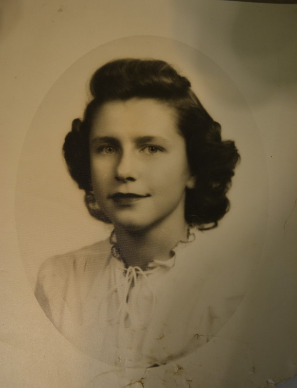 Marge's senior class photo, 1946. Courtesy of Marge Faulconer.