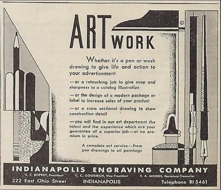 Sunday Adverts: Indianapolis Engraving Company