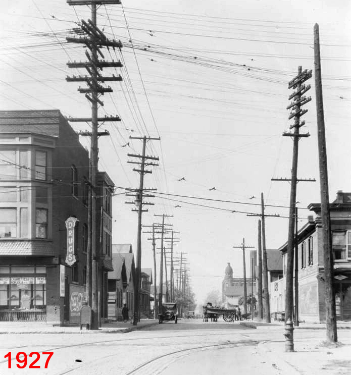 Indianapolis Then and Now: Blake and W. New York Streets / IUPUI