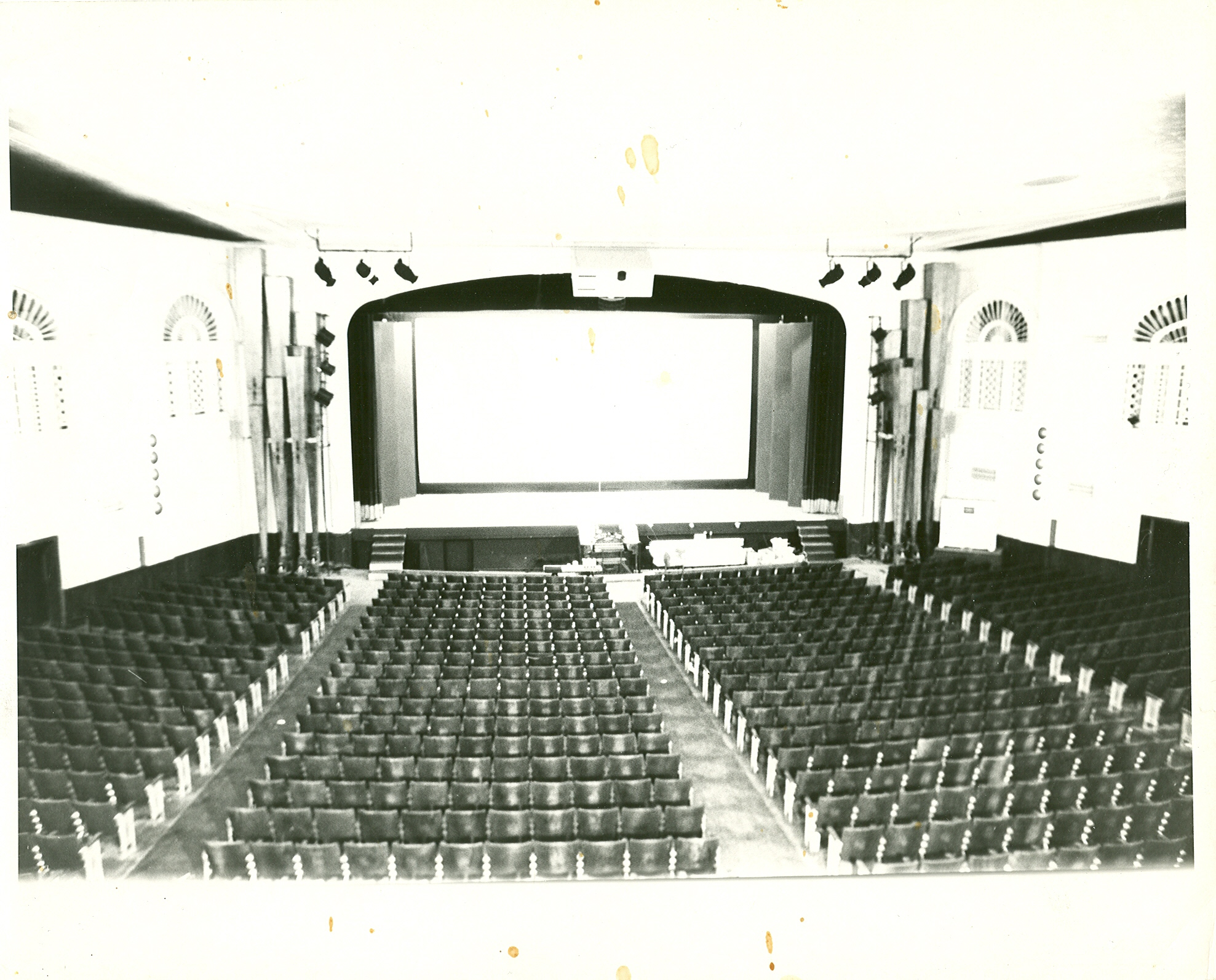 The Rivoli Theatre stage in the 1970s. (photo courtesy Carlton Smith)