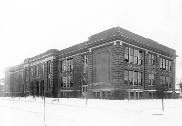 William A. Bell School 60 was built at 33rd and Pennsylvania to accommodate the growing number of children in the area (Bass Photo Company Collection, INDIANA HISTORICAL SOCIETY)