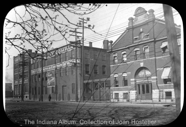 Lantern slide circa 1910. Courtesy of The Indiana Album: Collection of Joan Hostetler
