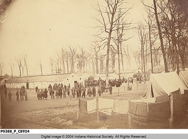 The Indiana State Fairgrounds became Camp Morton during the Civil War (photo courtesy of the INDIANA HISTORICAL SOCIETY)