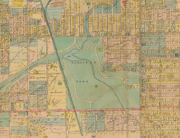1916 Baist Atlas (map courtesy of IUPUI Digital Library) CLICK TO ENLARGE