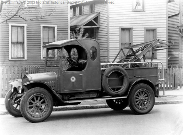 1931 indiana Bell Company tow truck (Bass Photo Company Collection, INDIANA HISTORICAL SOCIETY)