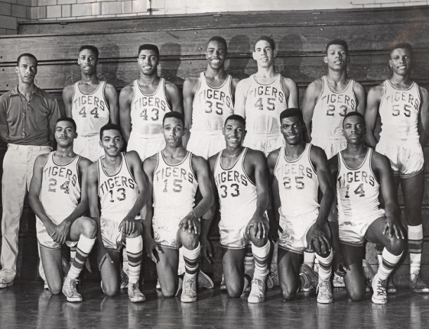1959 Crispus Attucks State Champions. Walter, #23, is in the back row, 2nd from right. INDIANA HISTORICAL SOCIETY.