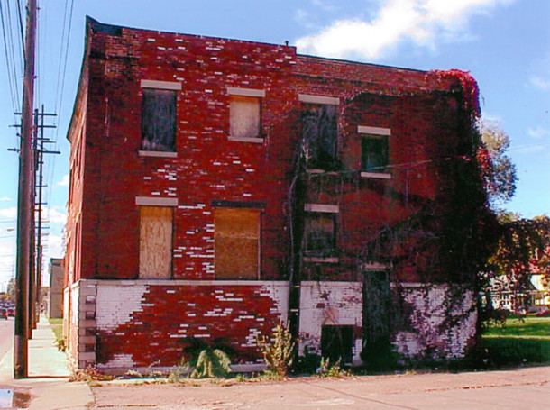 The side of 152 E. 22nd Street before the restoration by Woodland Realty Company, LLC (photo courtesy of Axia Urban)
