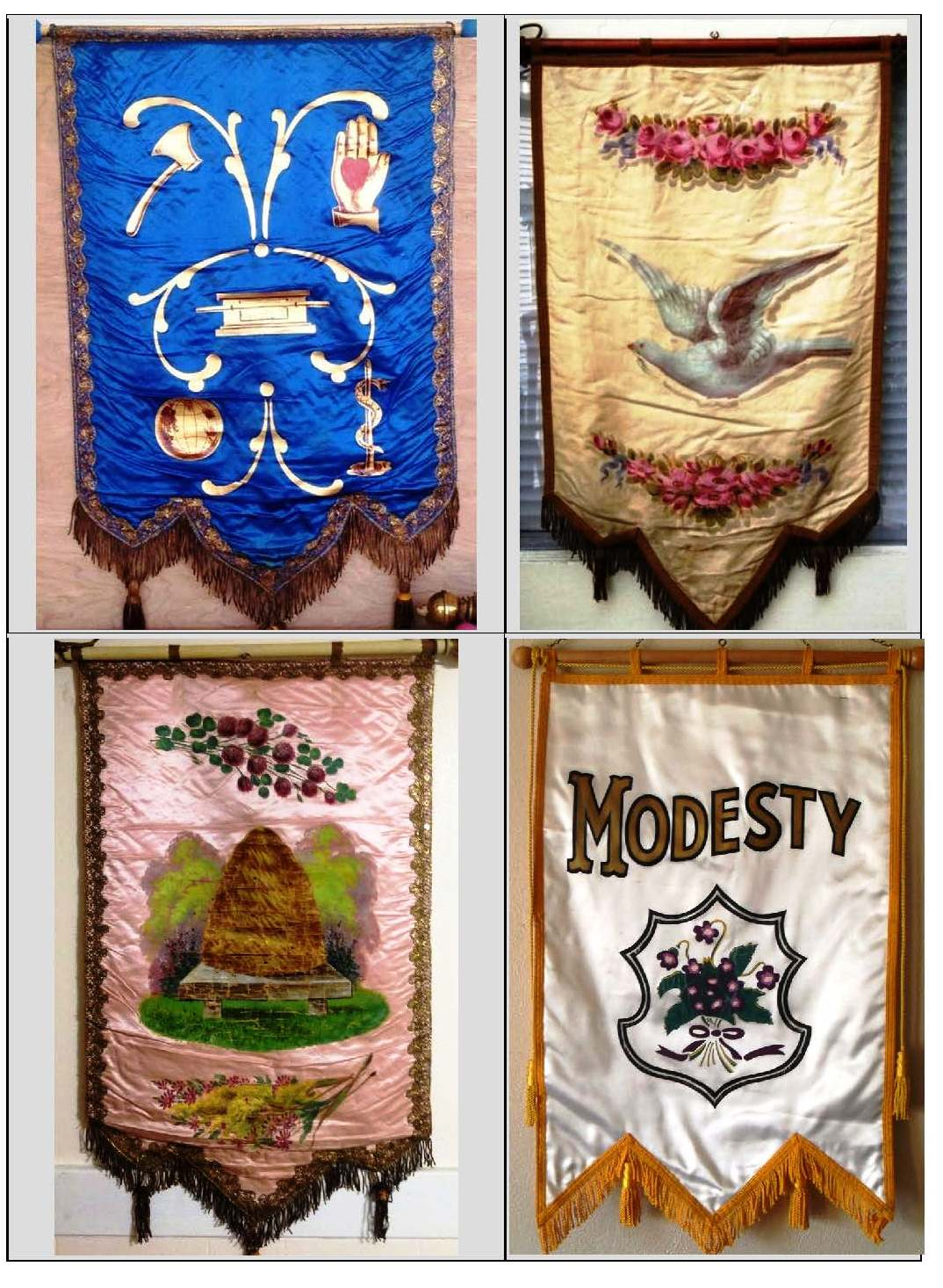 Indianapolis collected showdown at the odd fellows lodge historic silk banners with various odd fellows symbols are readily available on ebay the four banners above all sold within the past month at prices ranging from biocorpaavc Image collections