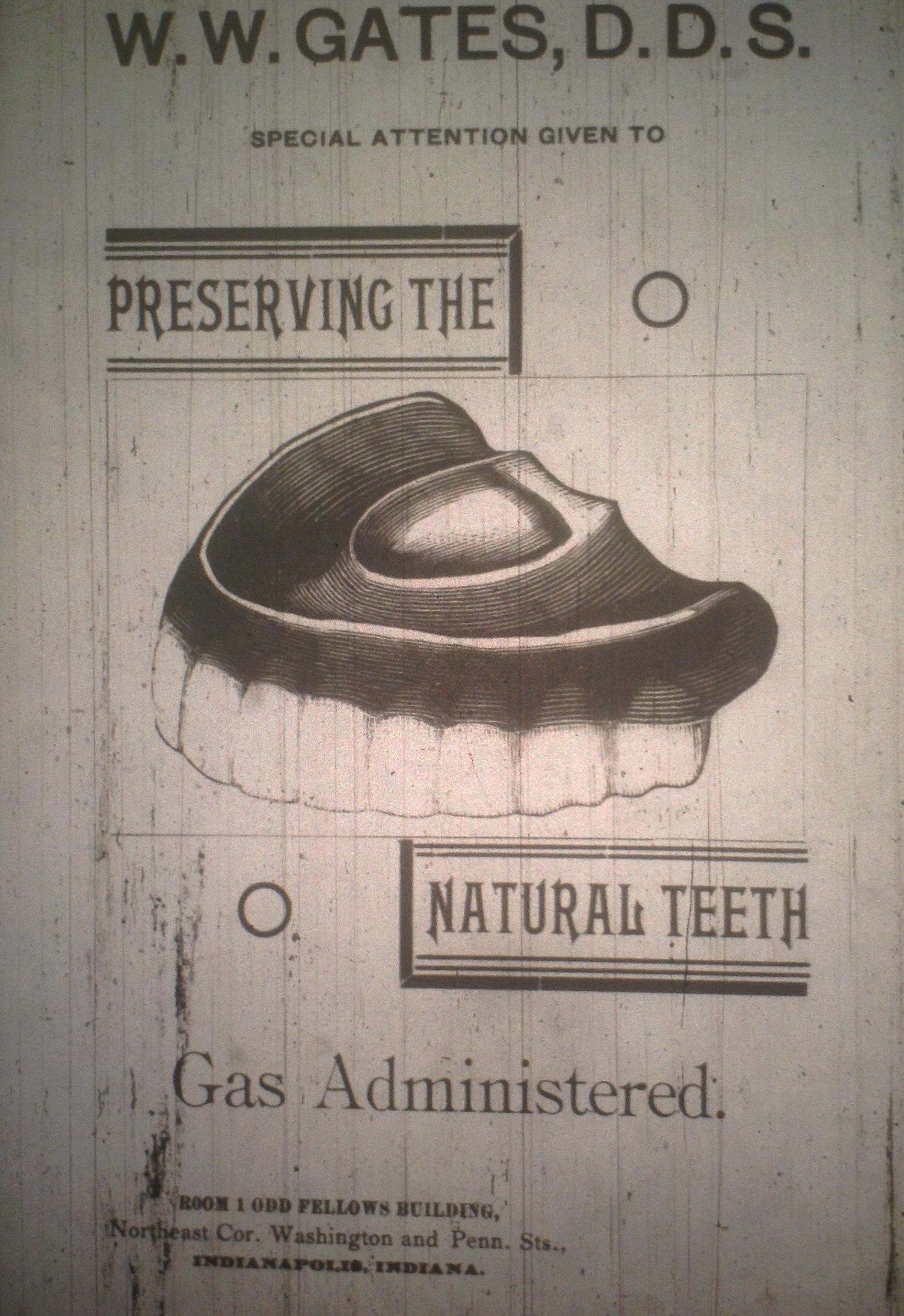 Sunday Adverts: W.W. Gates, DDS