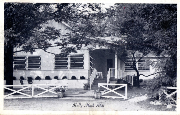 Postcard of Hollyhock Hill Restaurant. Courtesy of Evan Finch.