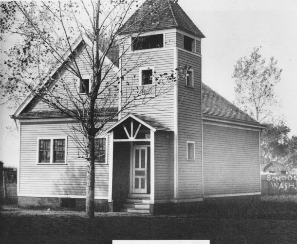 The Washington Twp. school #2 was located where the Masonic Lodge is now.