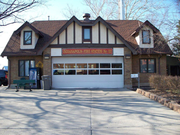 Indianapolis Fire Department Station 32, aka the Broad Ripple Firehouse, was built in 1922 (photo by Sharon Butsch Freeland)
