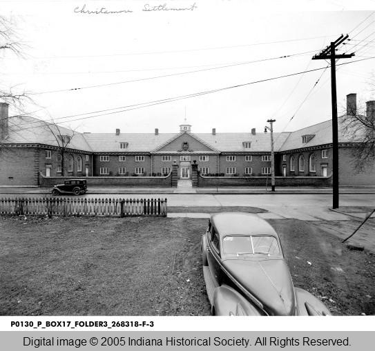 Christamore Community Center, 1947. Indiana Historical SOCIETYYYYY.