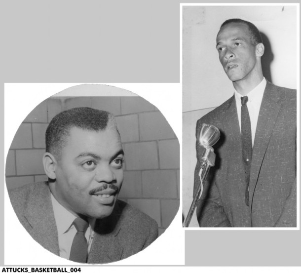 Coaches Ray Crowe (left) and Bill Garrett (right) led Crispus Attucks to three state championships during their consecutive terms. INDIANA HISTORISLFJSDLKFSD