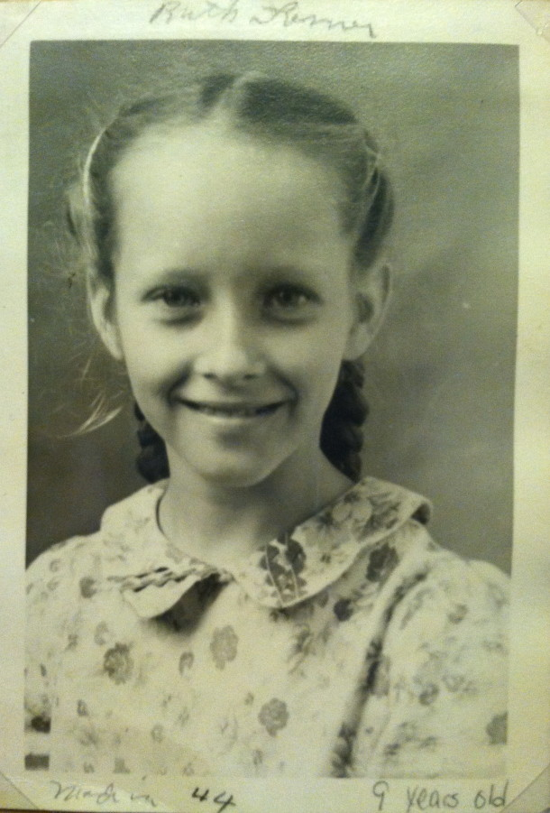 Ruth, age 9. Courtesy of Ruth Shaw.