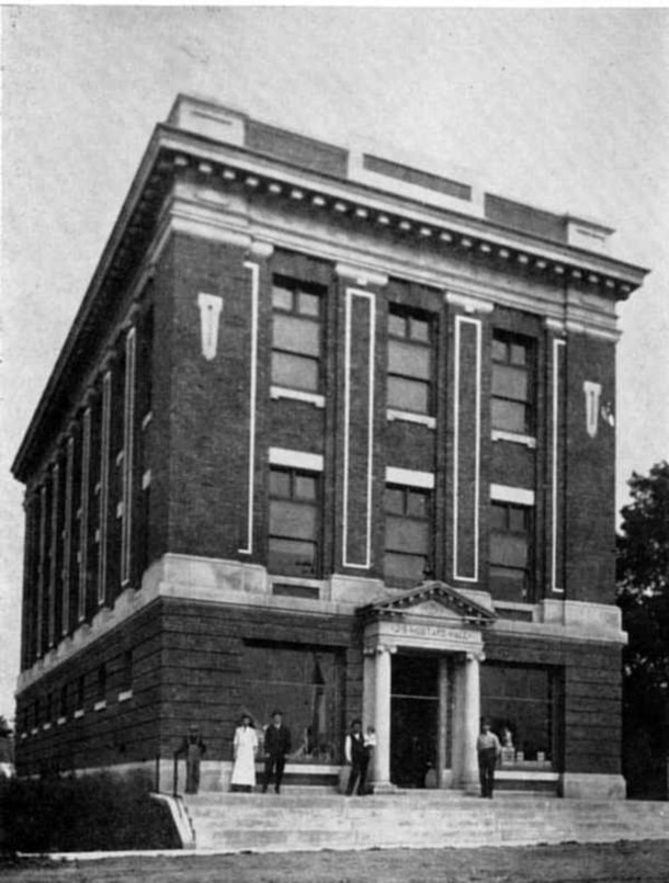 Mustard Hall was built in 1907 by the Masonic Lodge with a donation from Jacob Mustard (photo courtesy 1968 Broad Ripple High School book)