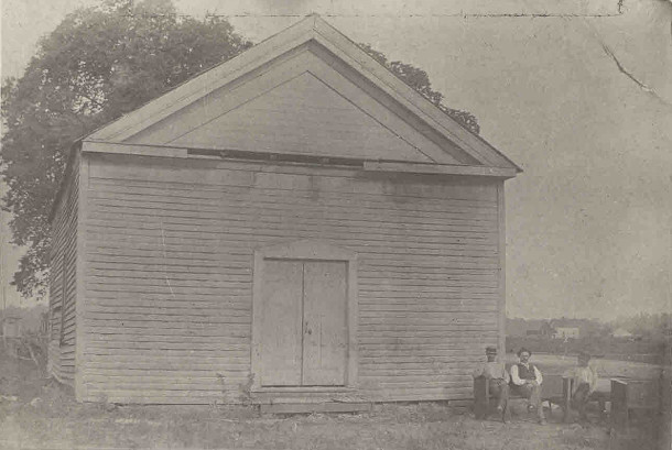The Union Church was built in 1851 on the northwest corner of what are now Westfield Boulevard and Guilford Avenue (photo courtesy of Alan Hague)