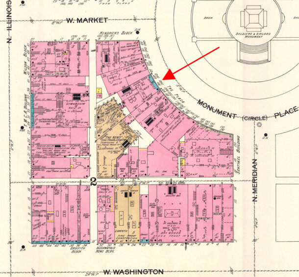 (1898 Sanborn map courtesy of IU Digital Library)