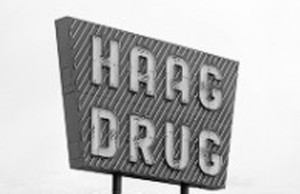 1950s-era Haag Drug sign