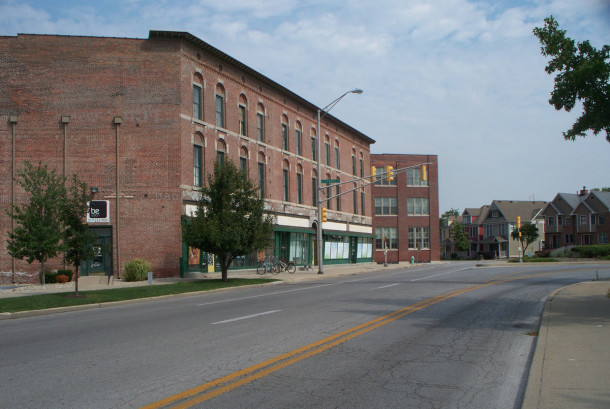 Prior to building 1010 Central Avenue, Lewis Meier and Company operated a store in the Buschmann Block, which was immediately southwest of it (photo by Sharon Butsch Freeland)