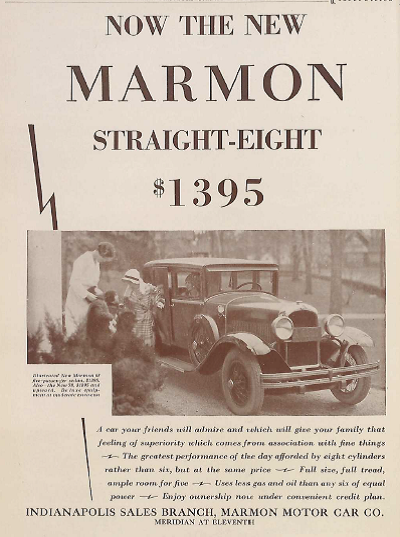 Sunday Adverts: Marmon Motor Car Co.