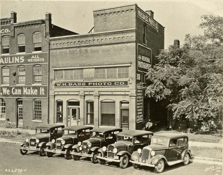 Indianapolis Then and Now: Bass Photo Company, 308 S. New Jersey Street