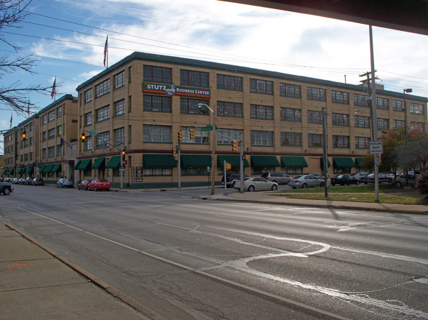 The Stutz Motor Car Company Building at 1002 N. Capitol Avenue facing southwest  (photo by Sharon Butsch Freeland)