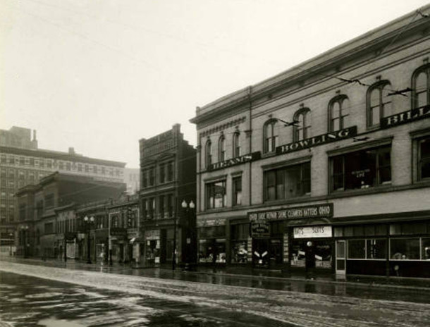 In 1923, the Celtic Federal Savings and Loan Association moved to 23 West Ohio Street, between Meridian and Illinois Streets (Pierre and Wright Architectural Records Collection, Ball State University Drawings and Documents Archive)