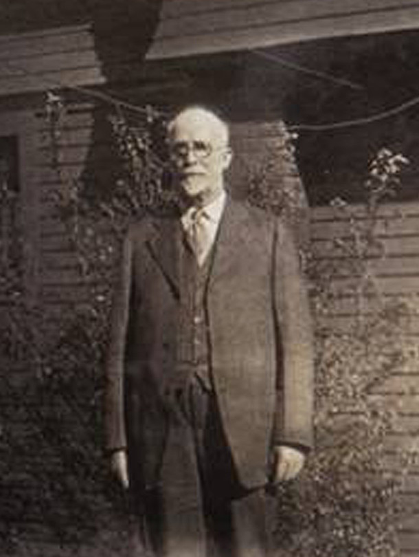 Celtic's first head, John R. Welch in 1927 at age 71 (photo courtesy of great-granddaughter Rita Welch)