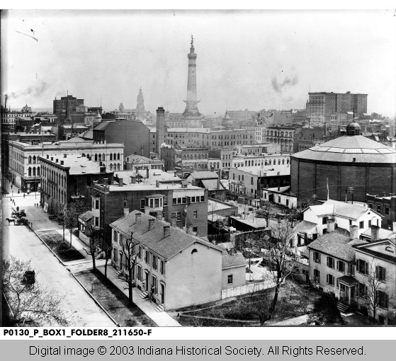 Indianapolis Then and Now: SE Corner of Ohio Street and Capitol Avenue