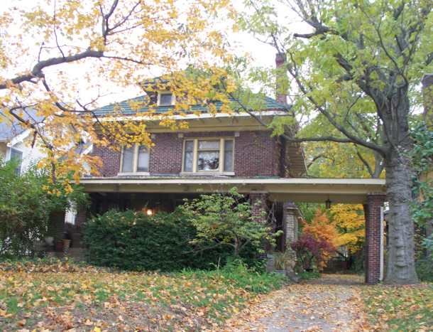 The home in which the Henry F. Campbell family lived during their years in Indianapolis was at 3261 N. Pennsylvania Street (photo by Sharon Butsch Freeland)