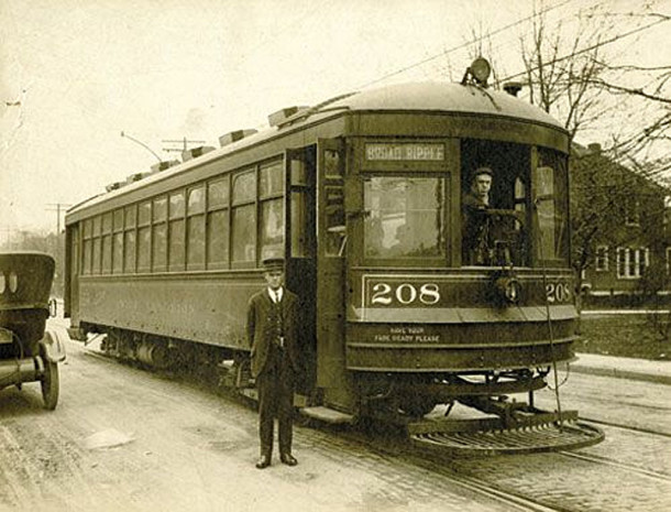 The interurban street car was one of the ways people got from the city out to the edge of town (photo courtesy of Indianapolis Monthly Magazine)
