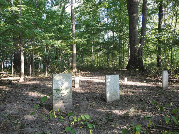 The Harmon-Cotton Cemetery is on private property near Cotton Creek  (photo courtesy of FindAGrave.com)