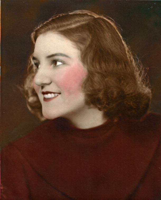 Lillian, age 18, 1933. (Courtesy of Brigette Jones).