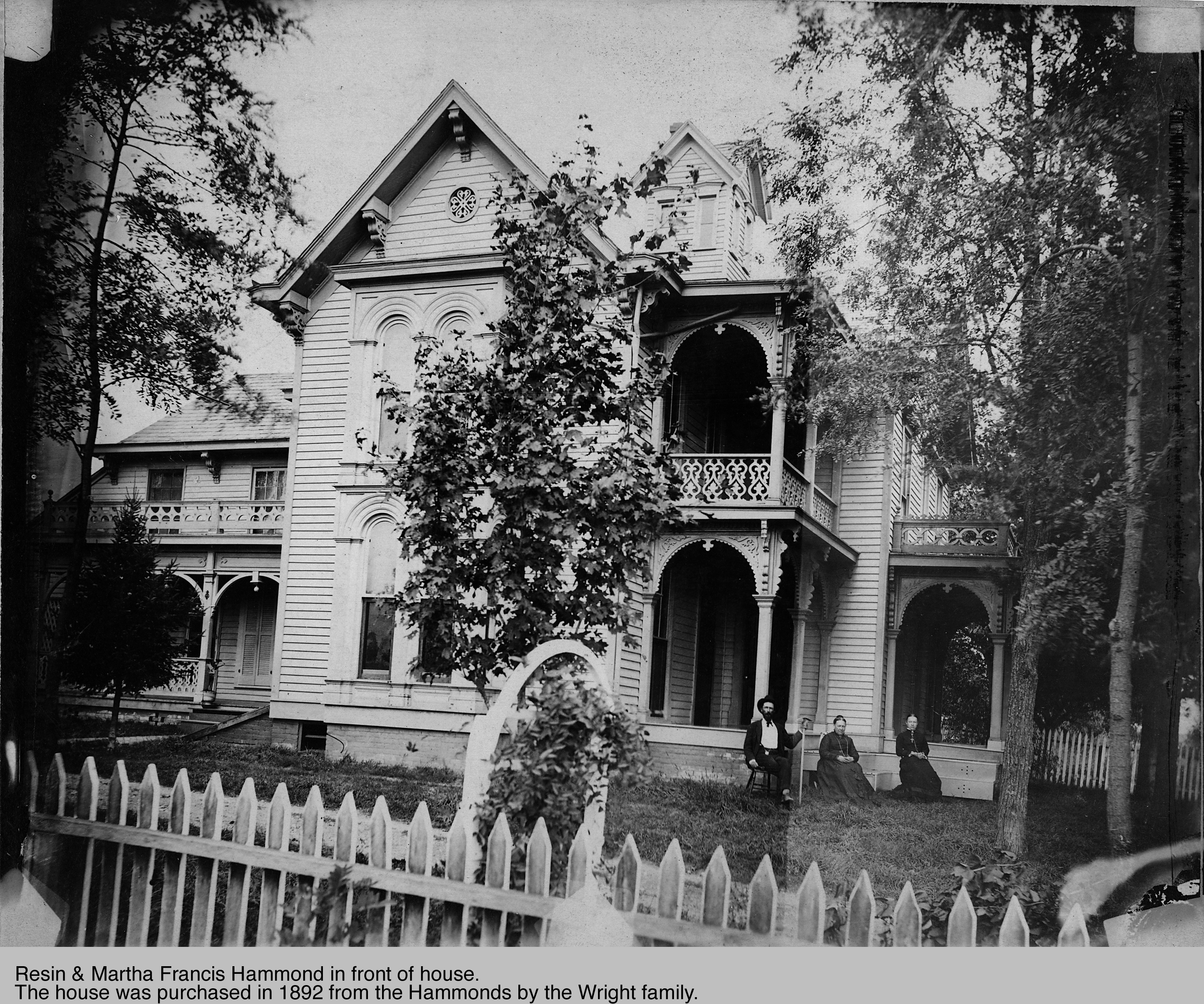 Indianapolis Then and Now: The Hammond-Wright House, 4150 Central Avenue