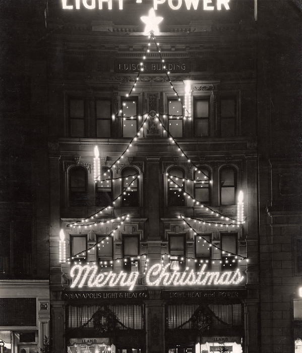 Indianapolis Then and Now: A Hodgepodge of Indianapolis Christmas Scenes
