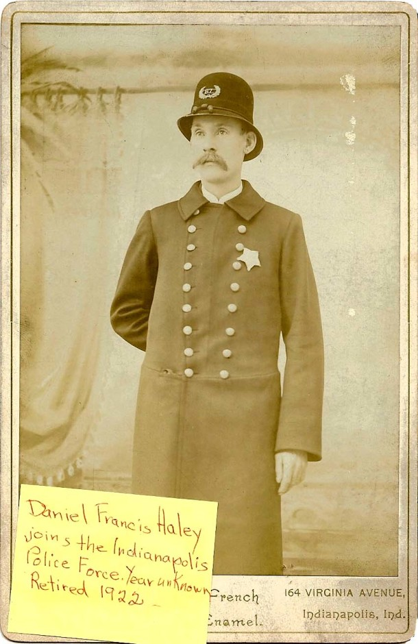 Daniel F. Haley wearing his police uniform, 1890s. (From the ancestry.com family tree of PJ Breen)
