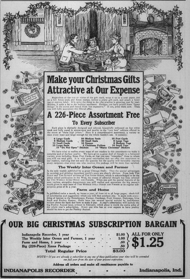 Sunday Adverts: The Indianapolis Recorder