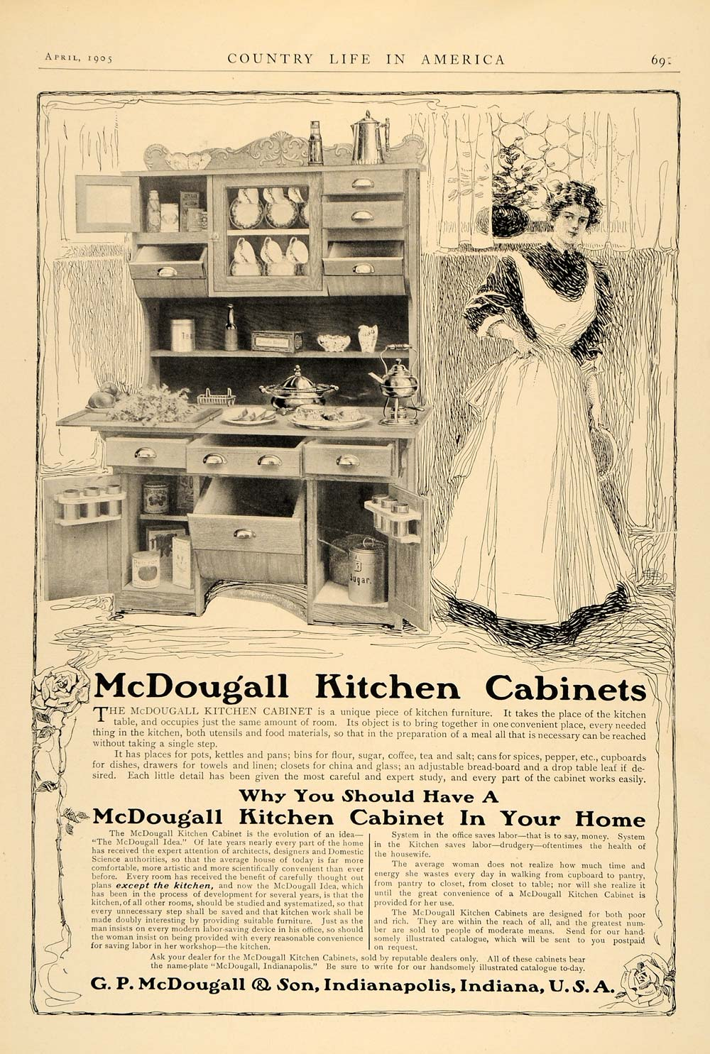 Sunday Adverts: G.P. McDougall & Son Kitchen Cabinets